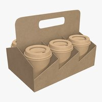 cup coffee paper model