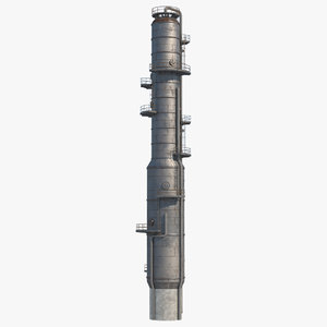 3D refinery tower model