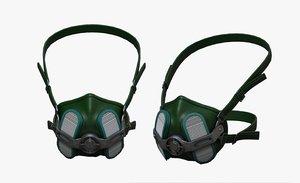 3D helmet mask model