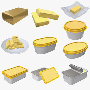 butter box pack 3D model