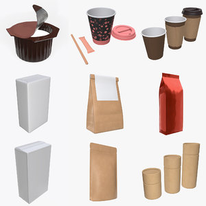 3D cup coffee paper