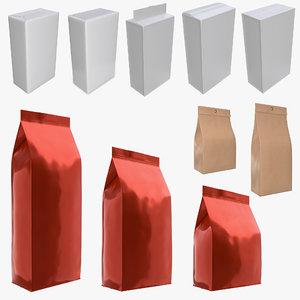 pack package bag model