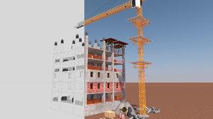 work construction site 3D model