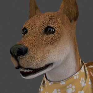 rigged dog idle model