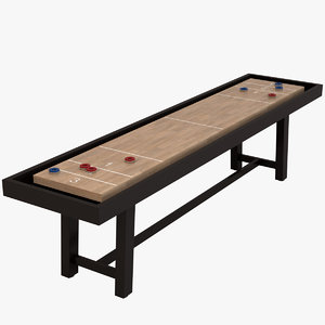 3D model shuffleboard table