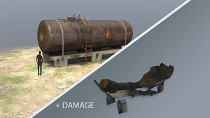 3D model fueltank 01 damage