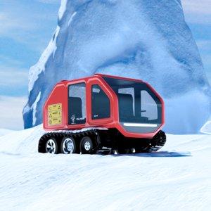 3D car snow