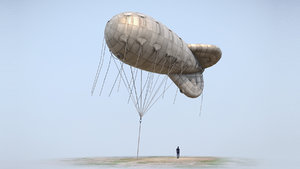 ww2 barrage balloon 01 3D model