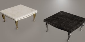 3D marble table model