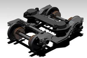 3D train bogie alstom
