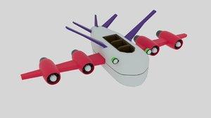 spacko space plane 3D model