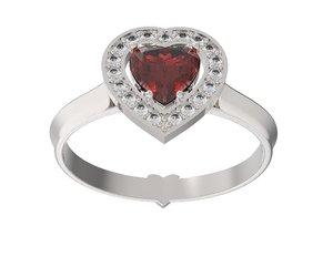 3D model ring heart
