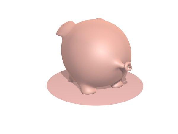 3D model piggy pig