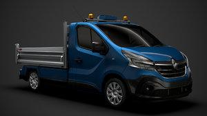 3D renault trafic tipper 2020 model