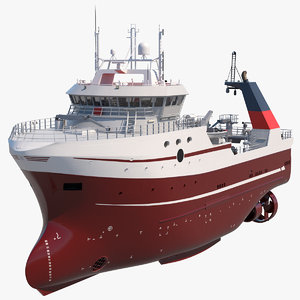 trawler fishing vessel trawls 3D model