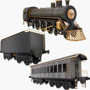 rail cars 3D model