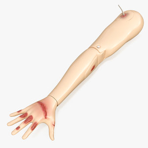 injured firstaid mannequin arm 3D model
