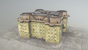 ww2 flakturm iv 3D