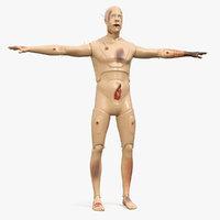 trauma extrication manikin t-pose 3D model