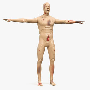 trauma extrication manikin t-pose 3D model