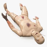 trauma extrication manikin lying model