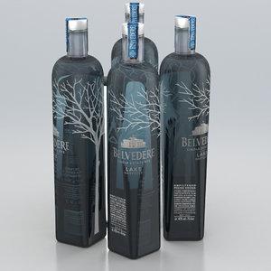 alcohol bottle vodka 3D model