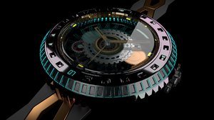 sci fi bespoke watch 3D model