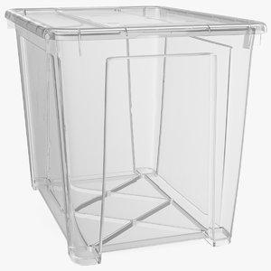large transparent plastic container 3D