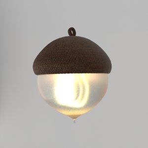 3D model cute lamp fixture lights