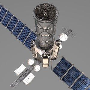 3D orbital space telescope model