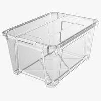 transparent plastic container lid 3D