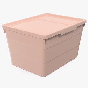 pink plastic storage box model