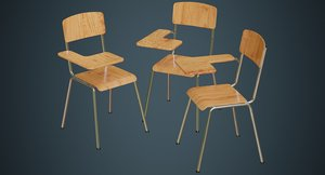 school chair 2a 3D model