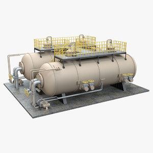 industrial silo 2 3D model