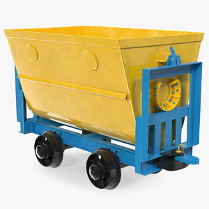 3D wagon mining cart model