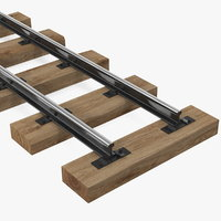 mining railway section rails model