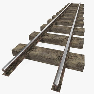 3D mining railway section rails model