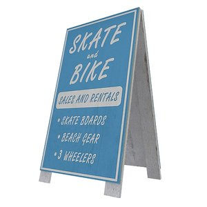 sidewalk signs 15 3D model