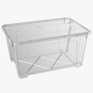 small transparent plastic container 3D