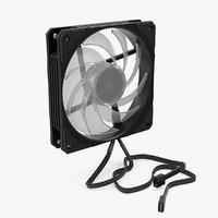 3D 120mm computer fan model