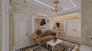 3D hall interior design neftchiler
