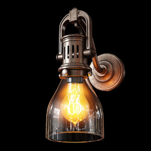 industrial factory wall sconce model