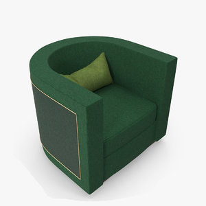 armchair swivel 3D model