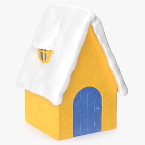 christmas house decorative figurine 3D model