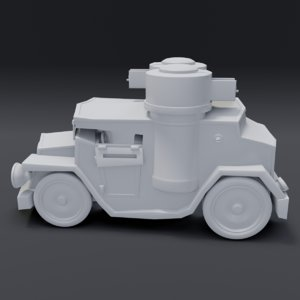 3D cartoon armored car