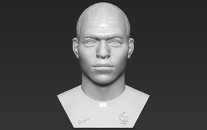 kylian mbappe bust printing 3D