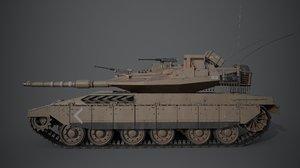 tank merkava 3D