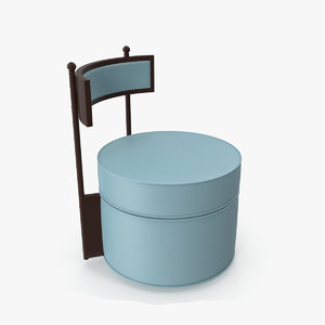 3D model tea table chair