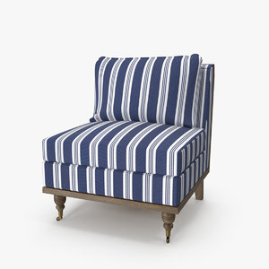 3D strip blue armchair