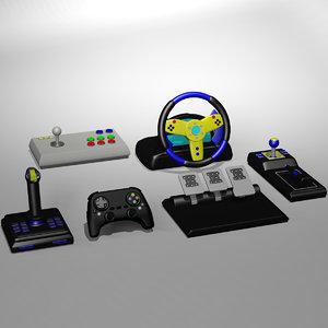 3D gamepad controller joystick model